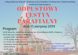 plakat odpust i festyn 2019
